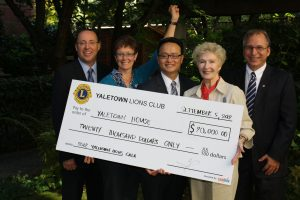 Yeah Yaletown Lions Club: $20,000 donation