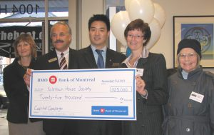 Bank of Montreal Gives $25,000 towards Capital Campaign