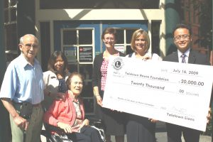 Yaletown Lions Donate $20,000 towards Quality of Life Starts at Home