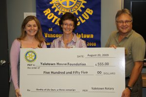 Yaletown Rotary Popcorn Sales Yield $555.00!